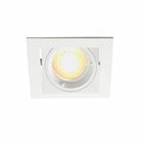 Philips LED Inbouwspot Adonis  - Dimbaar - Kantelbaar - Mat wit - Vierkant