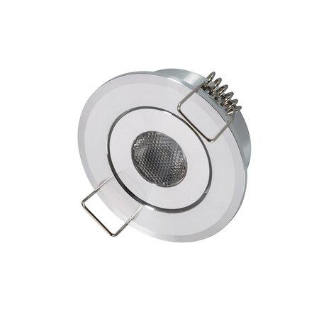 OutledTL Mini LED Inbouwspot Calisto - 1 watt - rond - 4000K- Neutraal wit