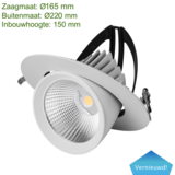 Blinq88 Led Banaanspot 40 watt | Led Downlight 40 watt kantelbaar