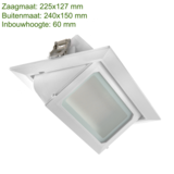 Blinq88 Led Banaanspot 30 watt  | Led Downlight - vierkant - 30 watt - kantelbaar