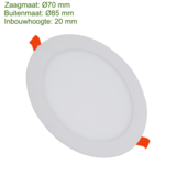 Blinq88 LED Downlight SLIMLine - Zaagmaat Ø70 - 3 Watt