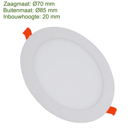 Blinq88 LED Downlight SLIMLine Zaagmaat Ø70 - 3 Watt