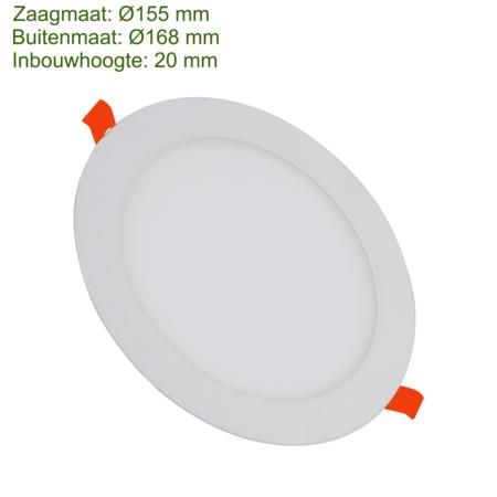 Blinq88 LED Downlight SLIMLine - Zaagmaat Ø155 - 12 Watt