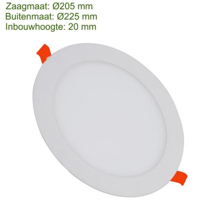 Blinq88 LED Downlight SLIMLine - Zaagmaat Ø205 - 18 Watt