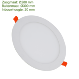 Blinq88 LED Downlight SLIMLine - Zaagmaat Ø280 - 22 Watt