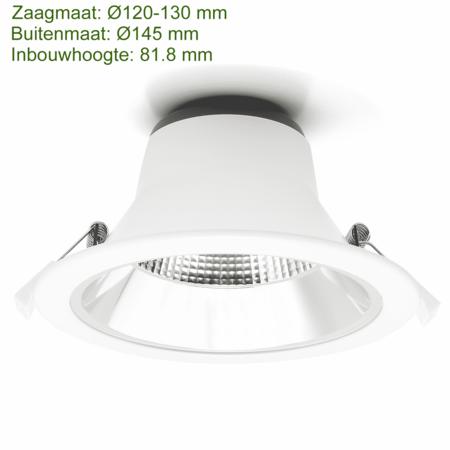 Blinq88 LED Downlight Reflector  -  Tri Color - 15 Watt - Zaagmaat Ø120-130MM