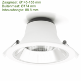 Blinq88 LED Downlight Reflector  -  Tri Color - 15 Watt - Zaagmaat Ø145-155MM