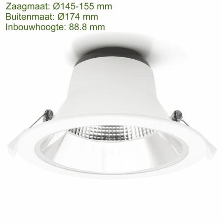 Blinq88 LED Downlight Reflector  -  Tri Color - 15 Watt - Zaagmaat Ø145-155MM