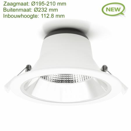 Blinq88 LED Downlight Reflector  -  Tri Color - 15 Watt - Zaagmaat Ø195-210MM