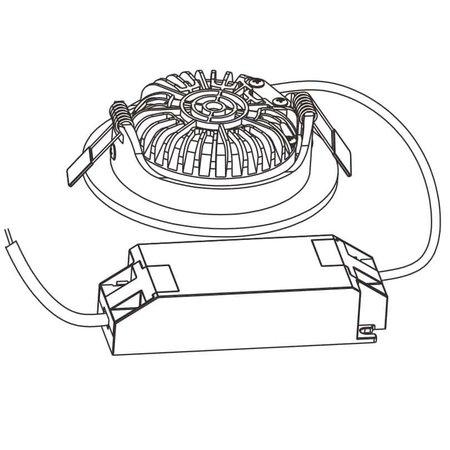 OutledTL Led Inbouw Spot Alexios - 5 watt - Dim to Warm - 25MM - Inbouwdiepte