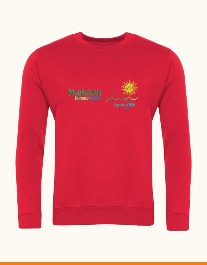 Banner Monkstown Nursery Sweatshirt (3SD) Red 7-8 yrs