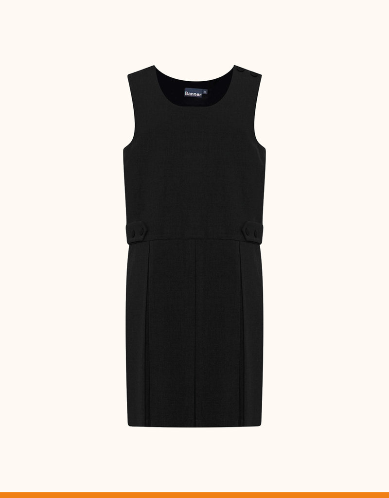 Banner Tenby Black Double Box Pleat Pinafore (913701)