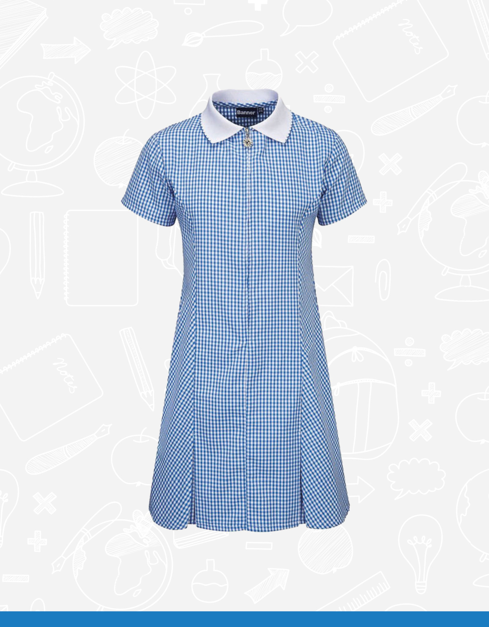 Banner Avon Zip Gingham Dress (913104)