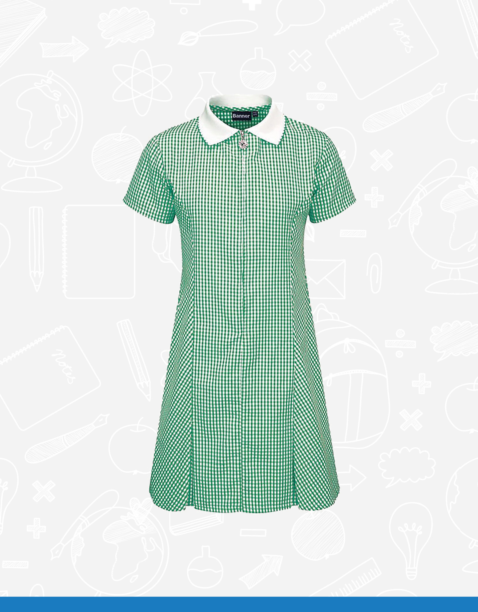 Banner Avon Zip Gingham Dress (913104) (BAN)