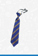 William Turner Belmont Primary Elasticated Tie (DS128EL)  Royal & Gold