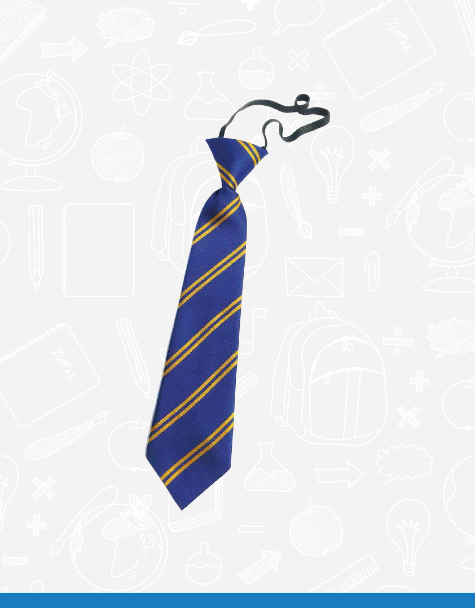 TSW Ties Belmont Primary Elasticated Tie (DS128EL)  Royal & Gold