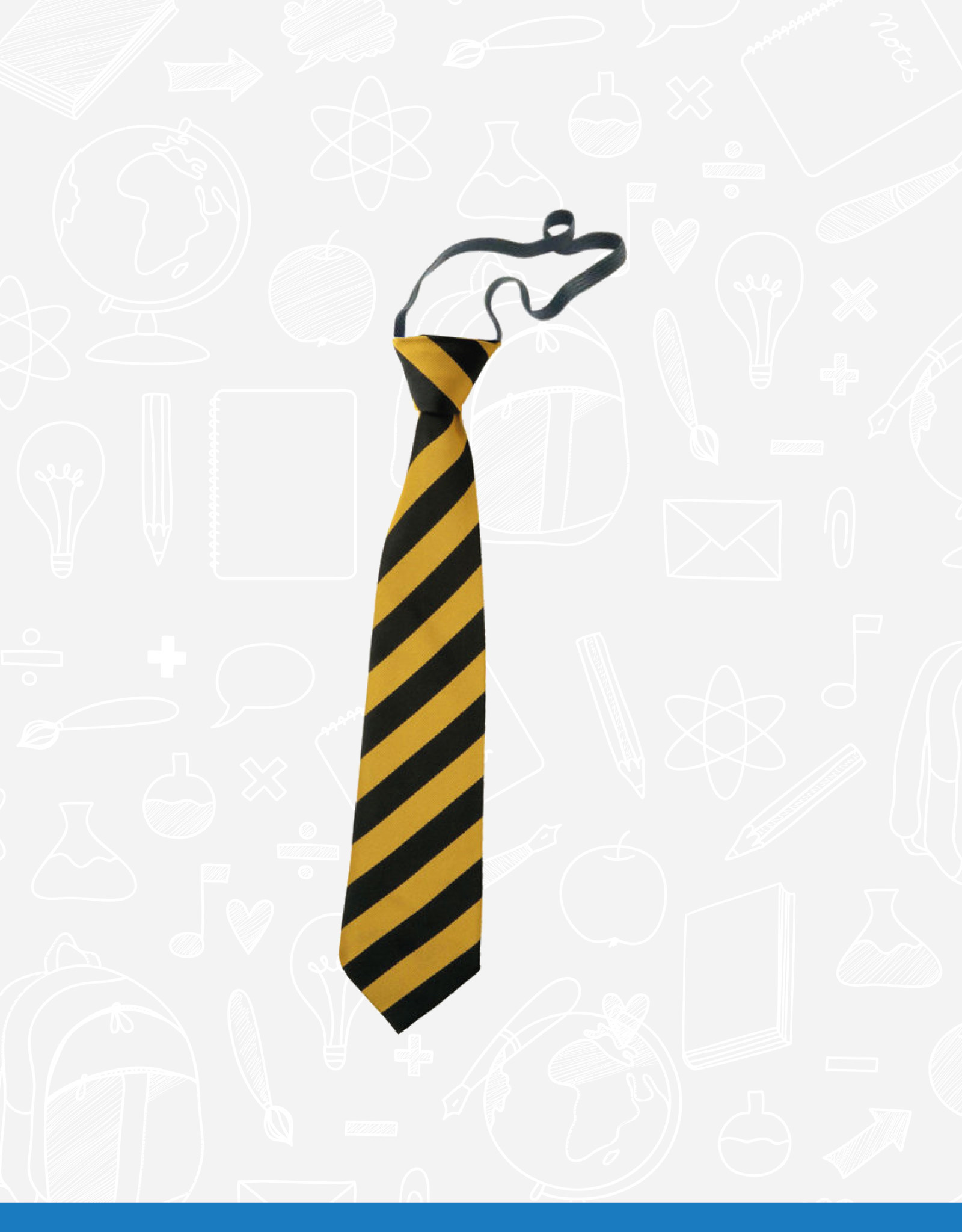 TSW Ties Kilmaine Primary Elasticated Tie (DS111EL)