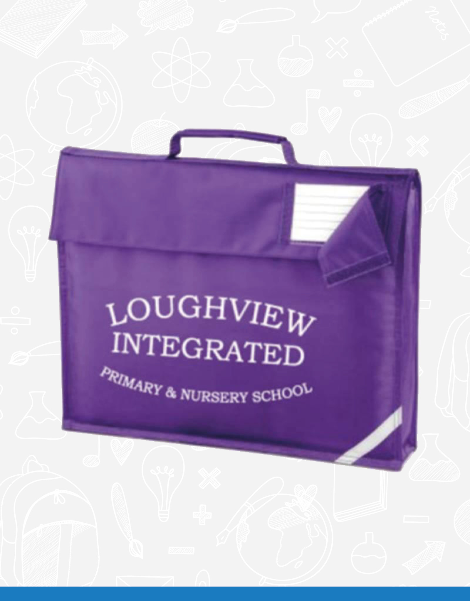 Quadra Old Loughview Book Bag (QD51)