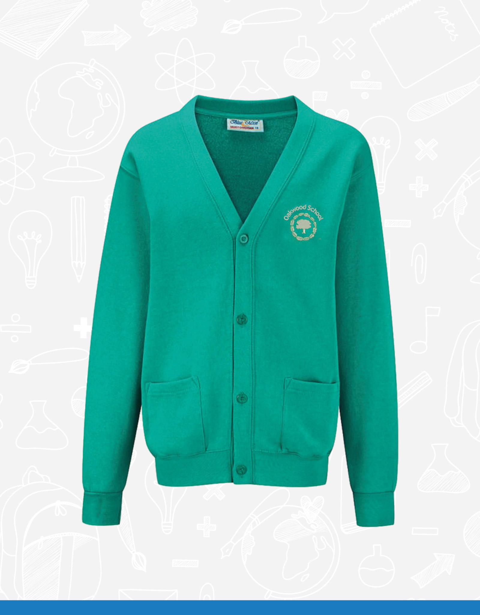 Banner Oakwood School Cardigan (3SC)