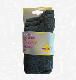 MagicFit Long Socks (3 Pack) (15R/SG) (BAN)