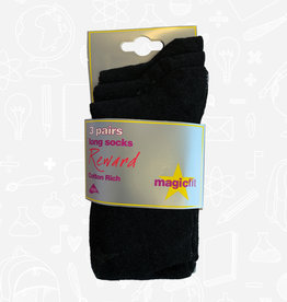 MagicFit Long Socks (3 Pack) (15R) (BAN)