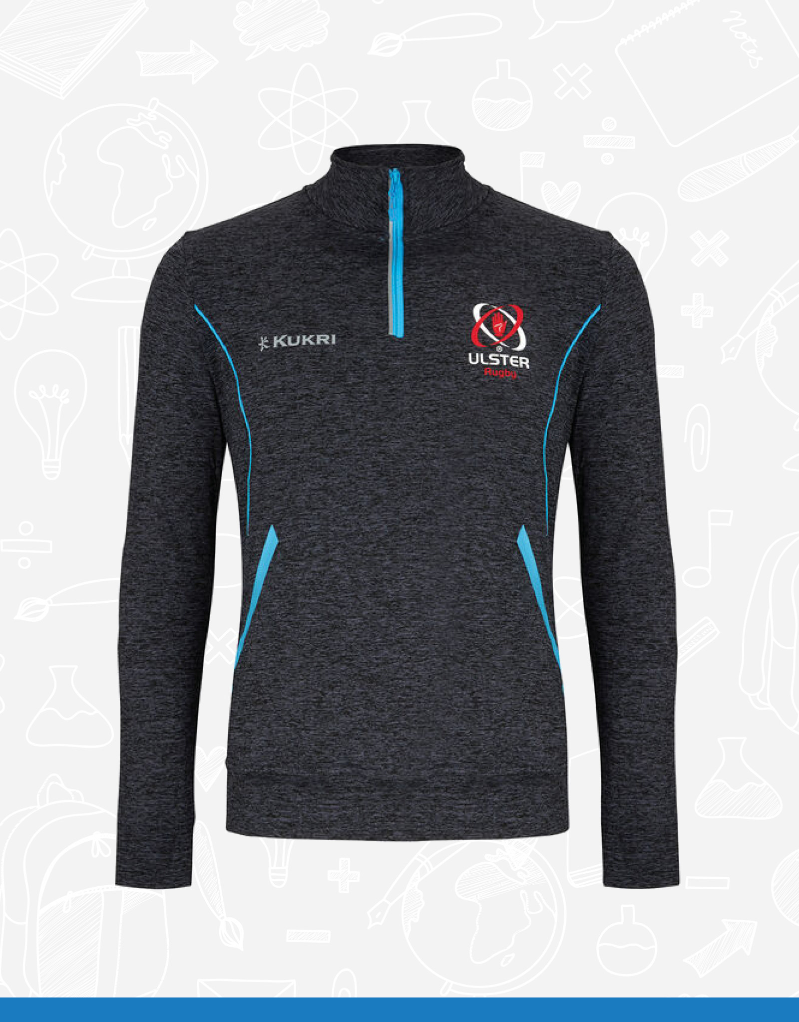 Kukri Ulster Rugby Adult 1/4 Zip