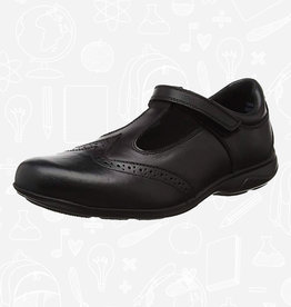 Term Janine T Bar Leather School Shoe
