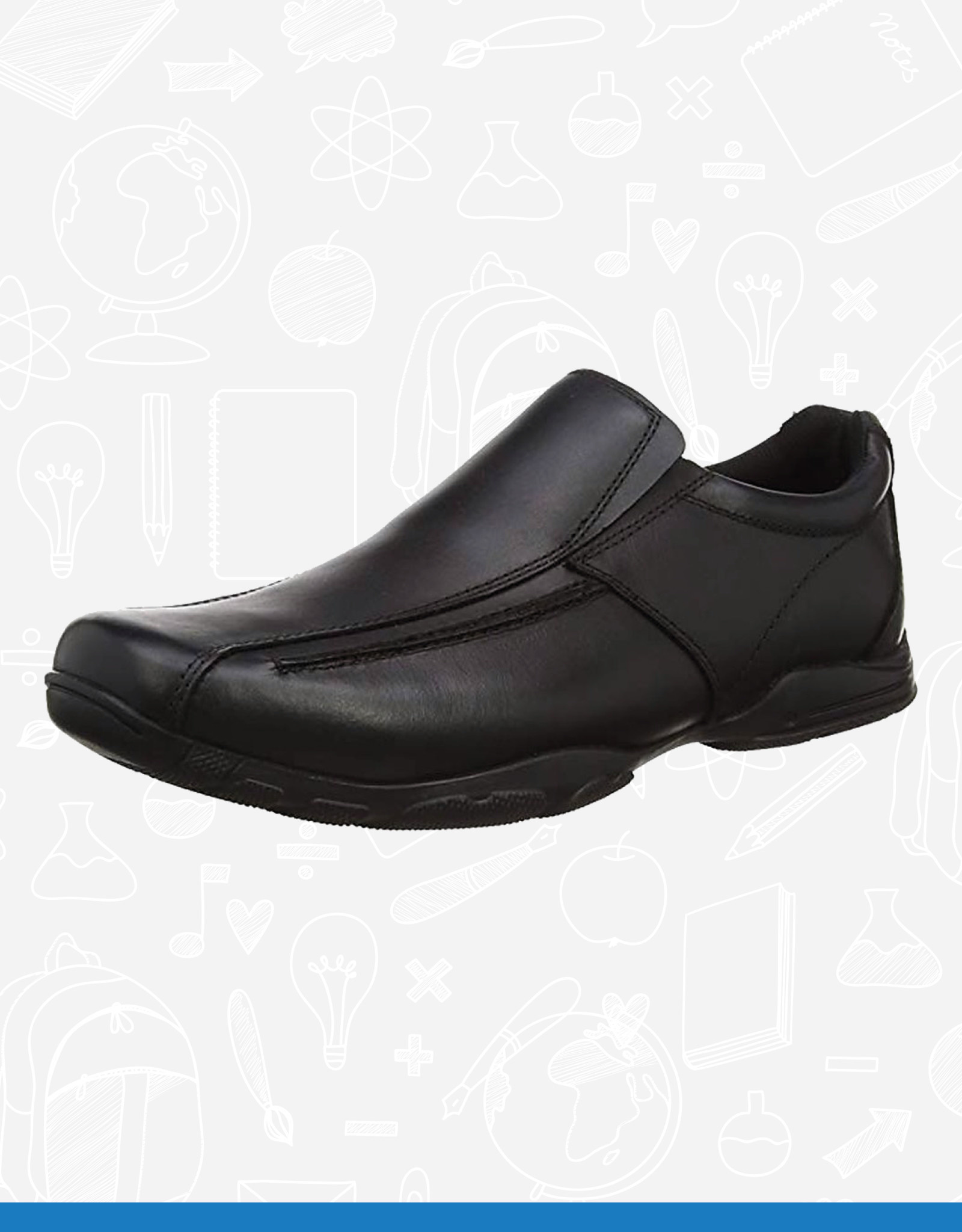 Term Hoddle Leather School Shoe