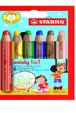 Stabilo Stabilo Woody 3 in 1 Pencil Wallet 6 (8806)