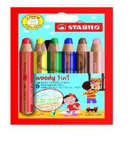 Stabilo Stabilo Woody 3 in 1 Pencil Wallet 6 (8806)