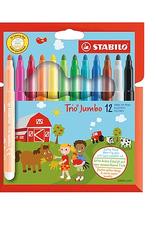 Stabilo Stabilo Trio Jumbo Fibre Tip Wallet 12 (380/12)