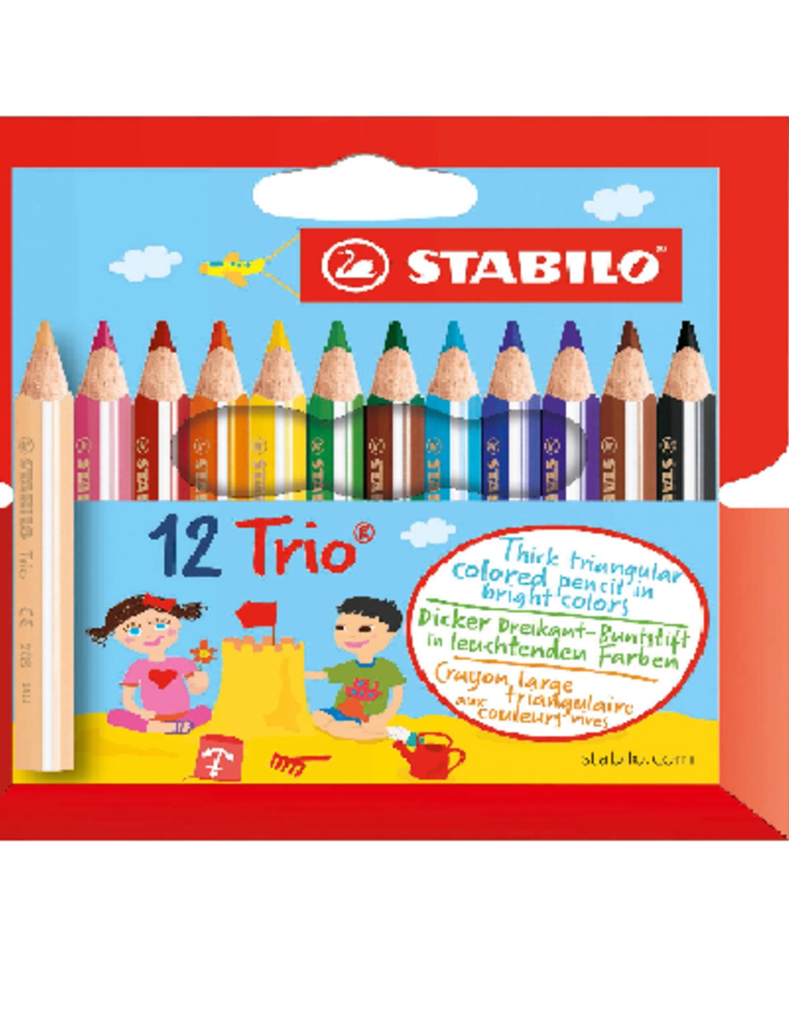 Stabilo Stabilo Trio Thick Colour Pencil Half Size 12s (205/12-01)