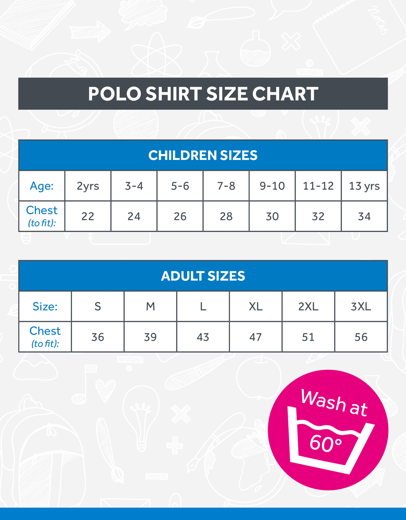 Banner Alphabet PreSchool Polo Shirt (3PP)