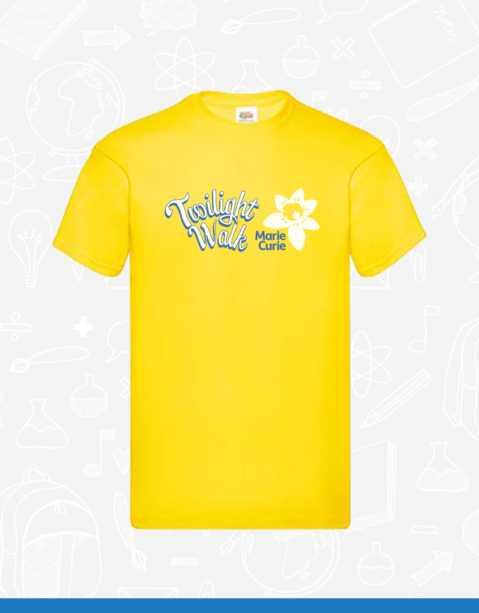Fruit of the Loom Marie Curie Twilight Walk T-Shirt (SS6)