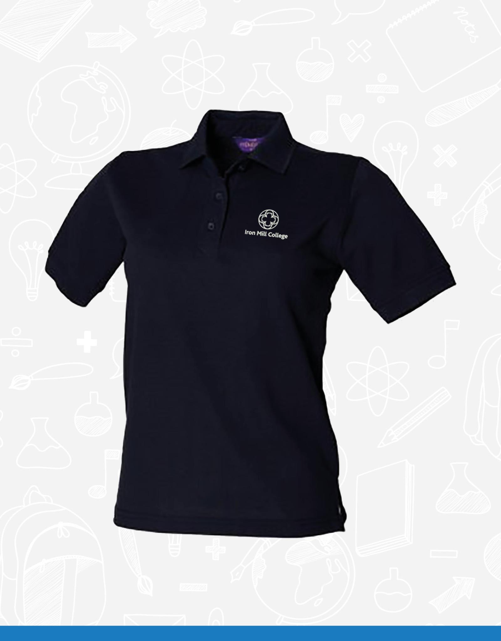 Henbury Iron Mill College - Ladies Navy Polo (H401)