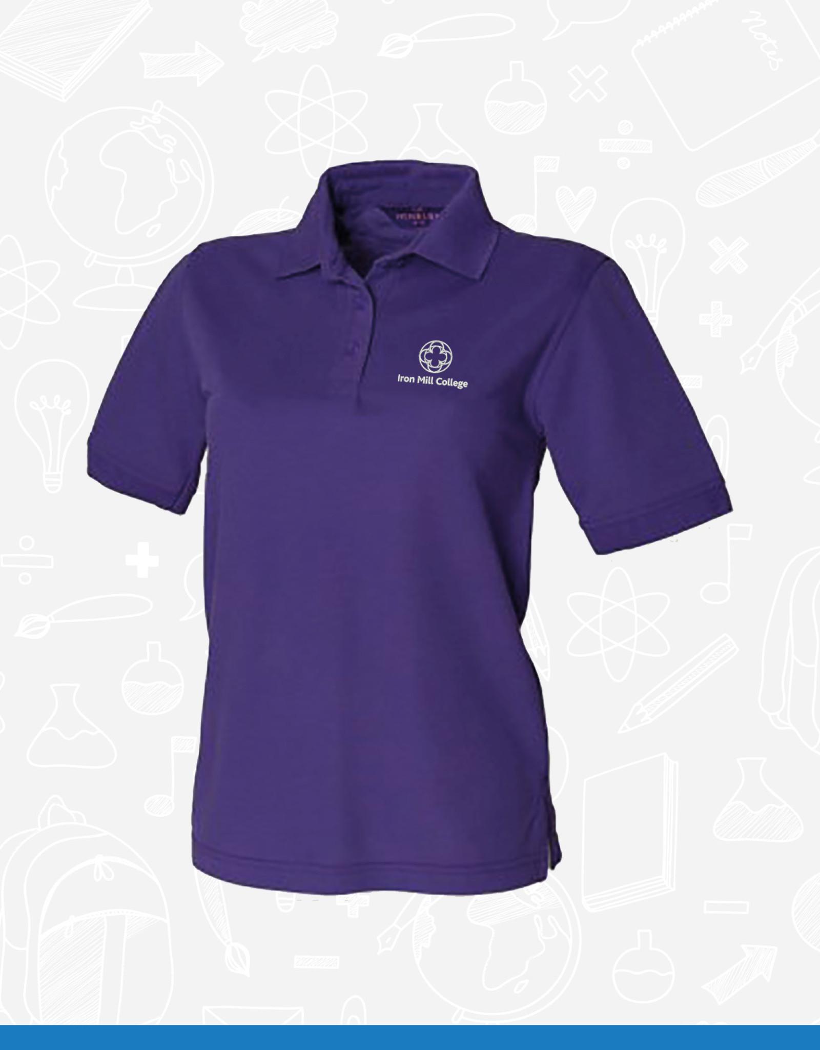 Henbury Iron Mill College - Ladies Purple Polo (H401)