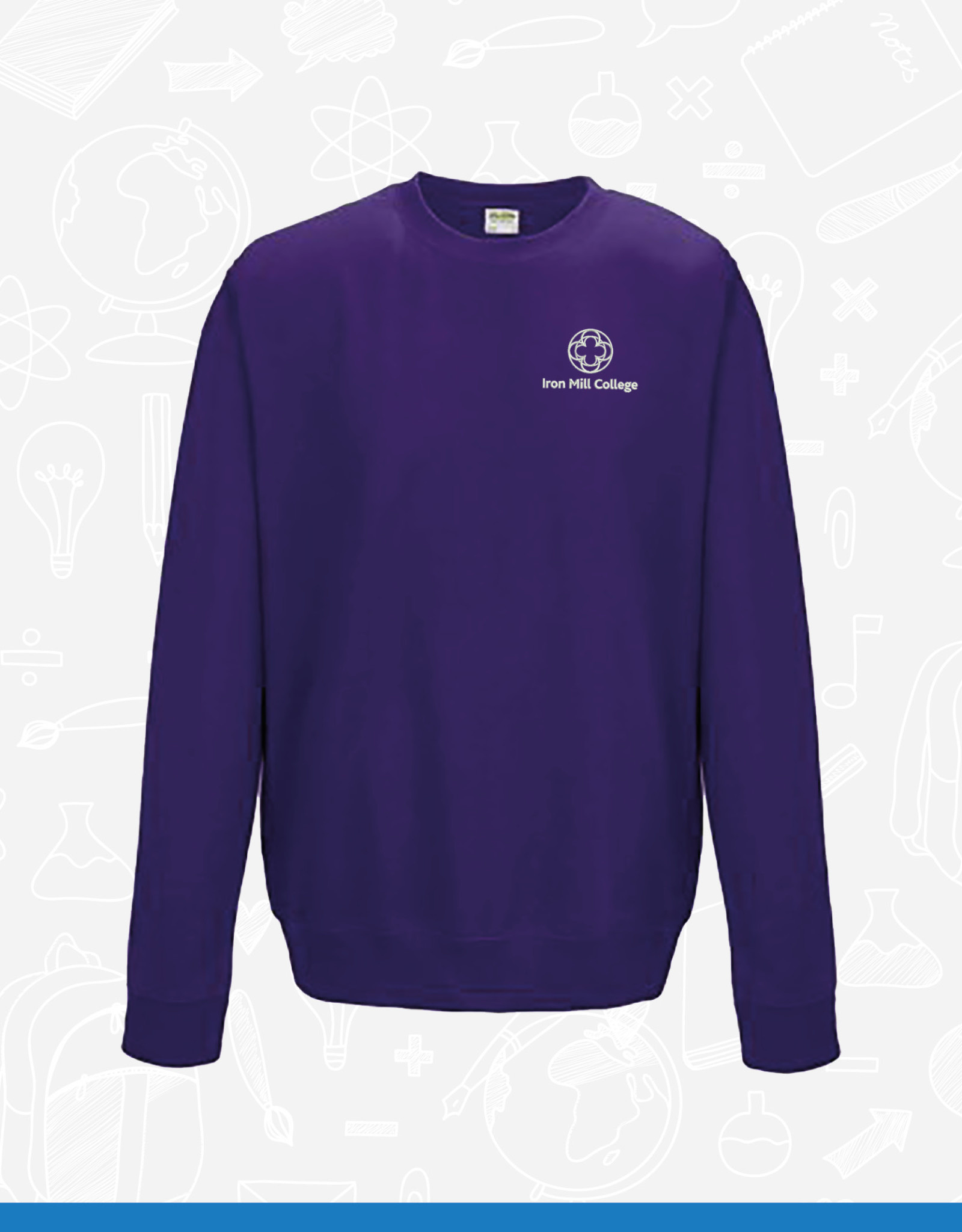 AWDis Iron Mill College - Purple Sweatshirt (JH030)