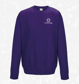 AWDis Iron Mill College - Purple Sweatshirt (JH030)