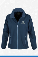 Result Iron Mill College - Ladies Navy Softshell (RS231F)