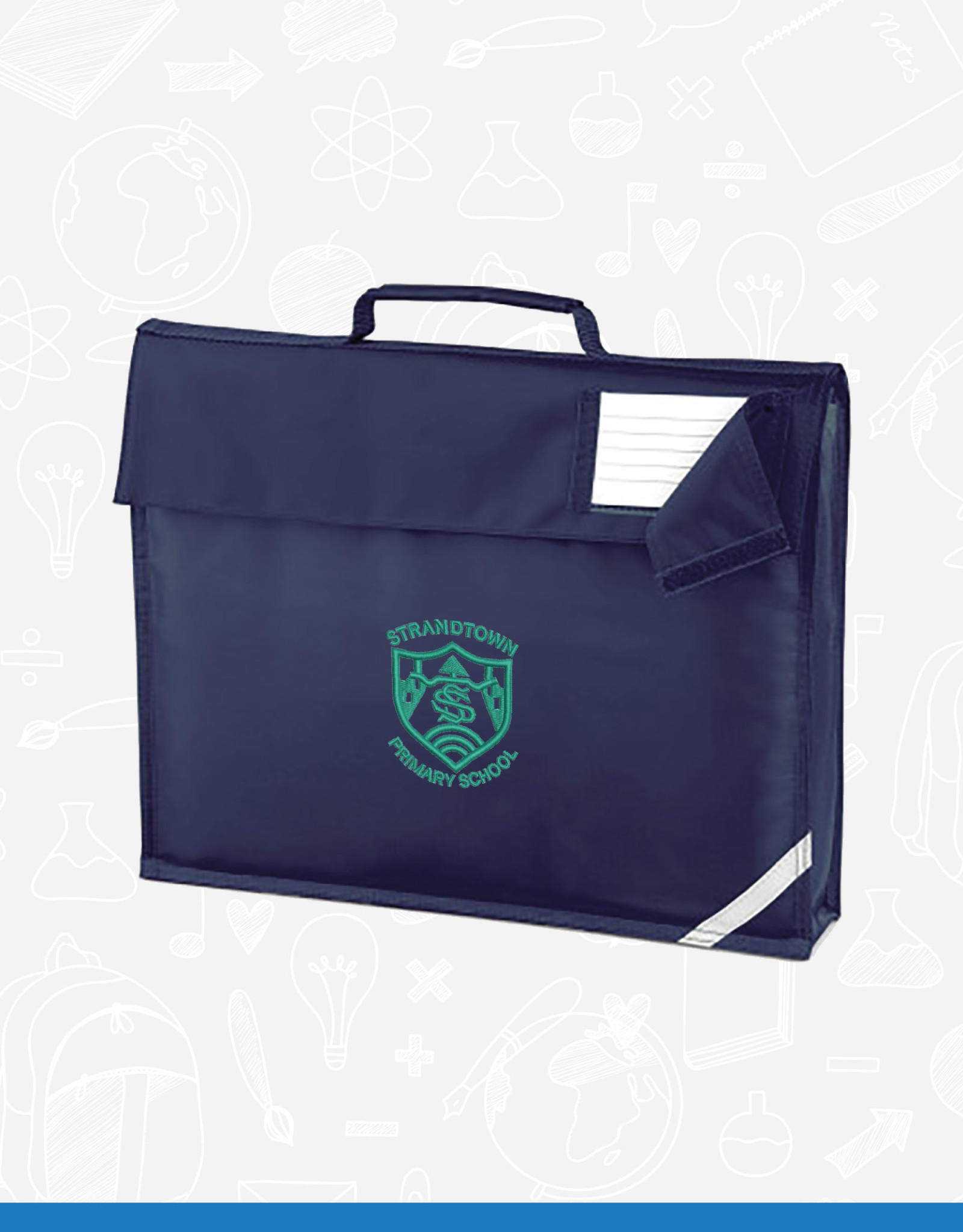 Quadra Strandtown Primary Book Bag (QD51)