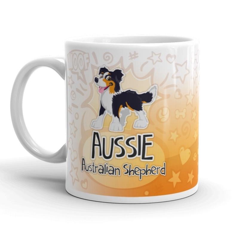 DG mok cartoon Aussie black tri