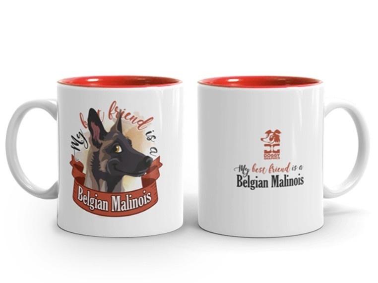 Doggygraphics DG mok best friend Belgian Malinois