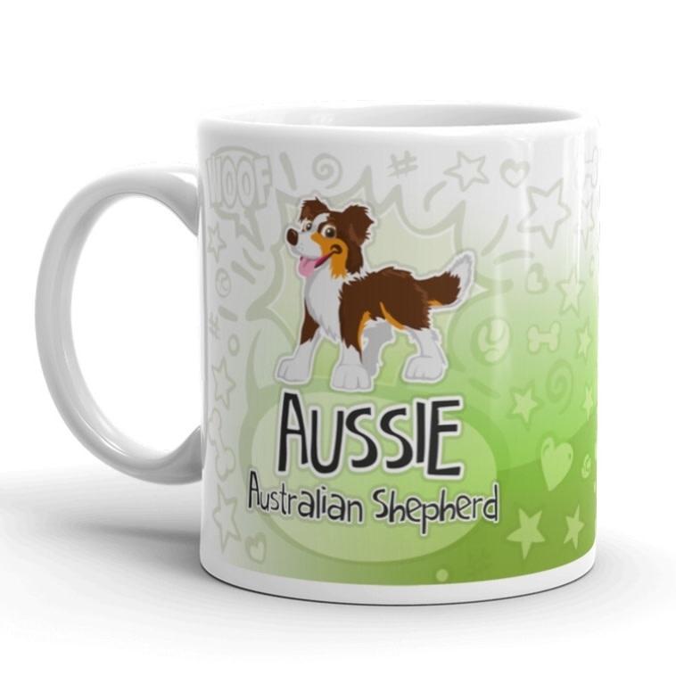 Doggygraphics DG mok cartoon Aussie red tri