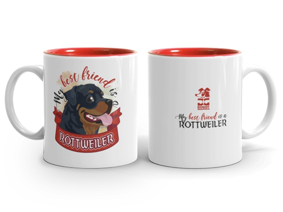 Doggygraphics DG mok best friend Rottweiler