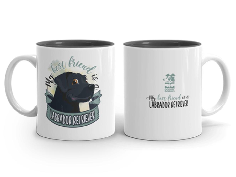 Doggygraphics DG mok best friend Labrador Retriever zwart