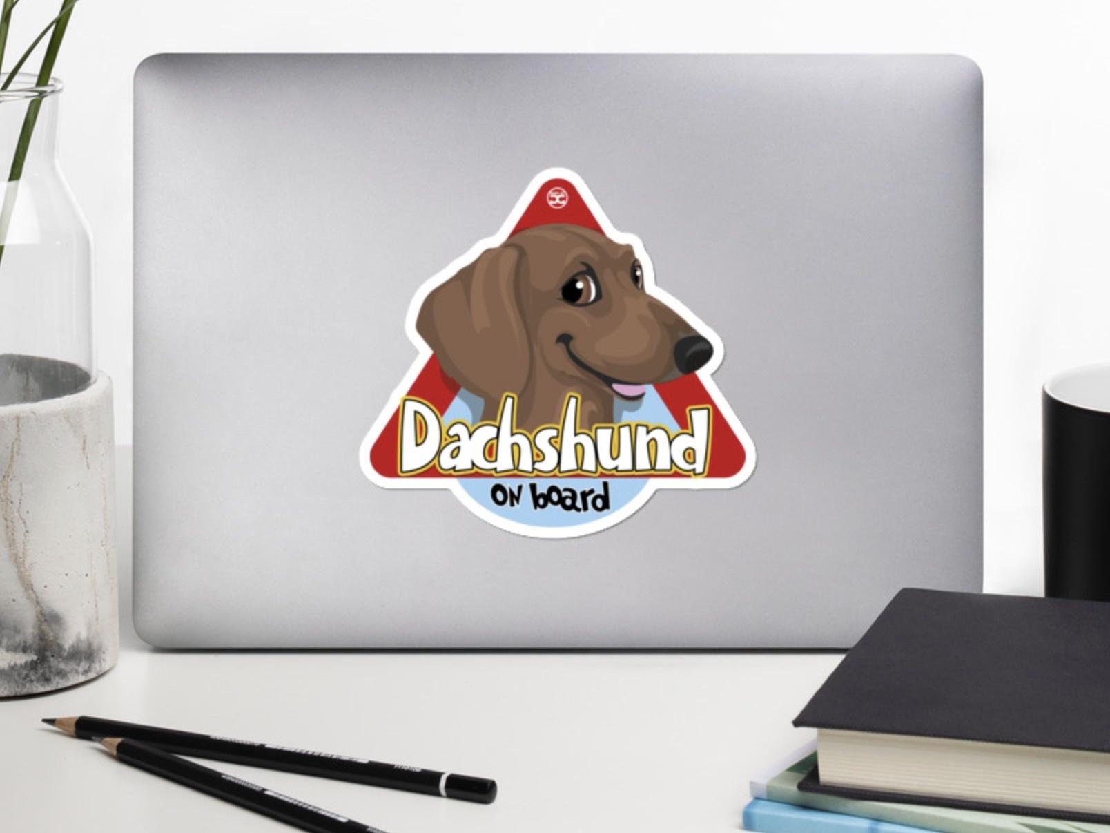 Doggygraphics DG autosticker Dachshund brown