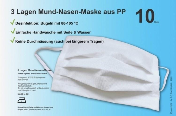Actionfactory Mondmaskers herbruikbaar 10x
