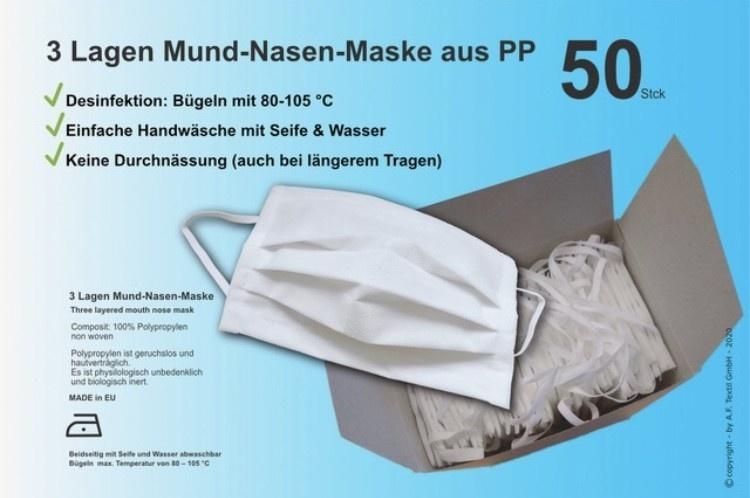 Actionfactory Mondmaskers herbruikbaar 50x