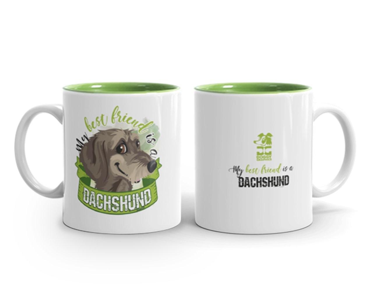 Doggygraphics DG mok best friend Dachshund ruwhaar