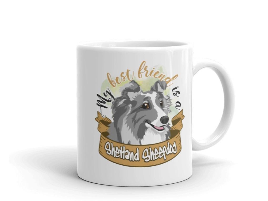 Doggygraphics DG mok best friend Shetland Sheepdog bleu bi